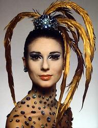 pinterest 60's feather headdress