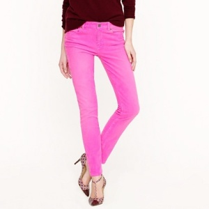 pinterest pop of color pink jeans