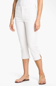 White capri's are so versatile for summer!   NYDJ - Nordstrom