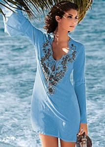Venus Embellished Tunic - can be worn as a cover-up or over capri's to dinner