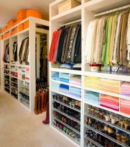 closet organized beautifully